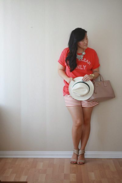OOTD: Red and White Dry Clean Only