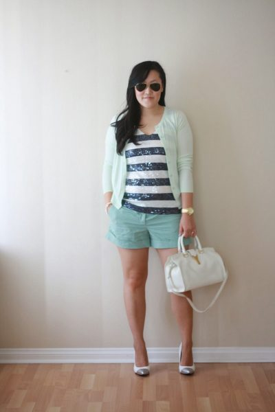 OOTD: Sequin Stripes and Mint