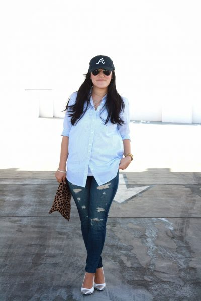 OOTD: Classic Shirt and Distressed Denim