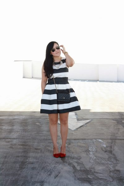 OOTD: Stripe Dress and Red Heels