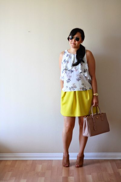 OOTD: Floral and Chartreuse