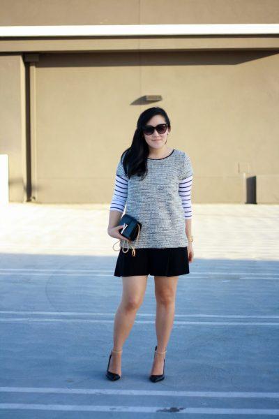 OOTD: Tweed & Stripes