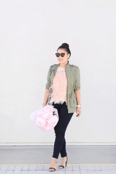 STYLE: Peachy Blush Feather Top