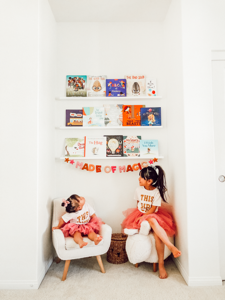 library wall with wayfair