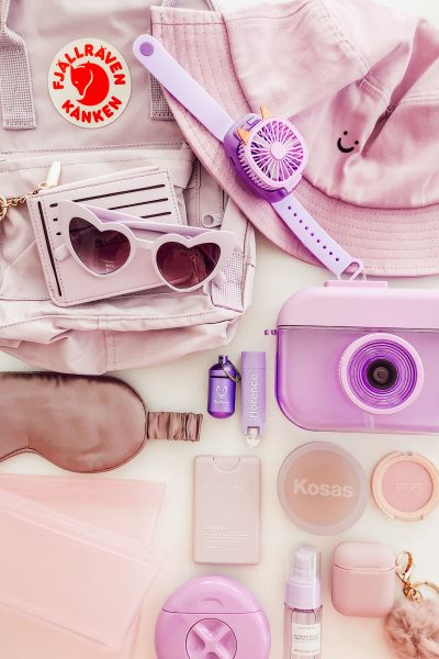 Whats In My Travel Bag Color Challenge – Purple Edition